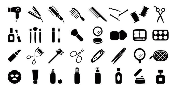 Beauty Cosmetics Icon (Flat Silhouette Version)