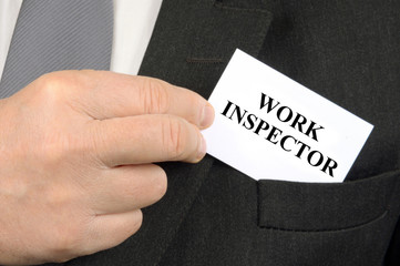 Work inspector business card