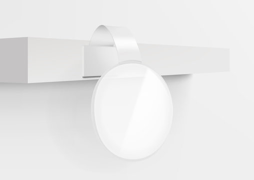 3D Blank Advertising Plastic Shelf Sale Wobbler