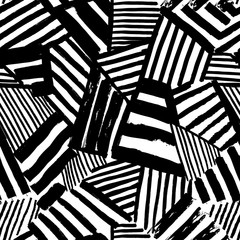 Dazzle  seamless abstract pattern drawn by brush