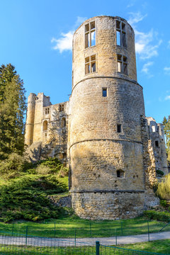 The old castle of Beaufort in Luxembourg