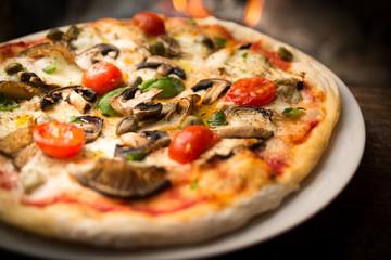 Cadres-photo bureau Pizzeria Pizza cuite au four