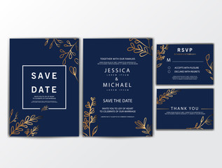 Wedding Invitation Cards with Ornament