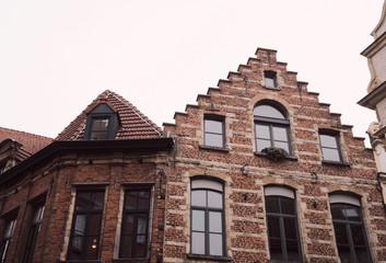 typical facade in Brussels - Belgium.