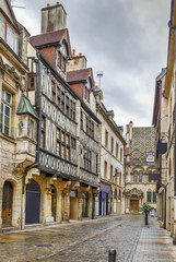 Fototapete - Street in Dijon, France
