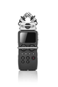 Audio recorder isolated on a white background.