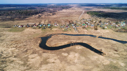 River bend in the shape of a horseshoe.