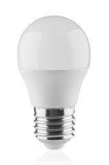 LED light bulb close up isolated on white background