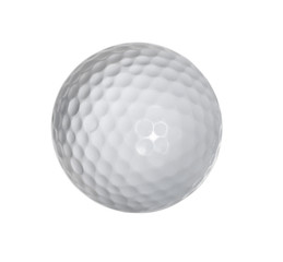 Deurstickers Bol Golf ball isolated on white background