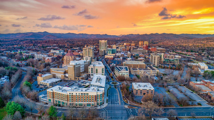 Asheville North Carolina NC Drone Skyline Aerial Fototapete
