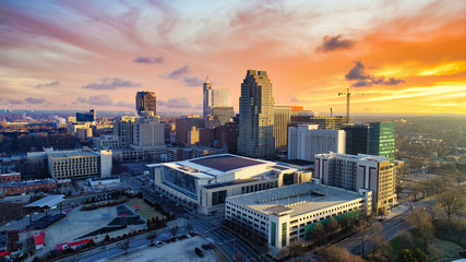 Raleigh, North Carolina, USA Drone Skyline Aerial Fototapete