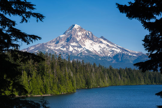 Mount Hood from Lost Lake in Oregon