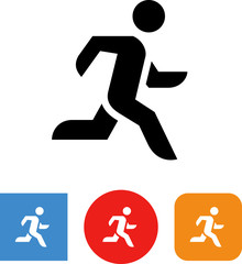 Person Running Fast Vector Icon