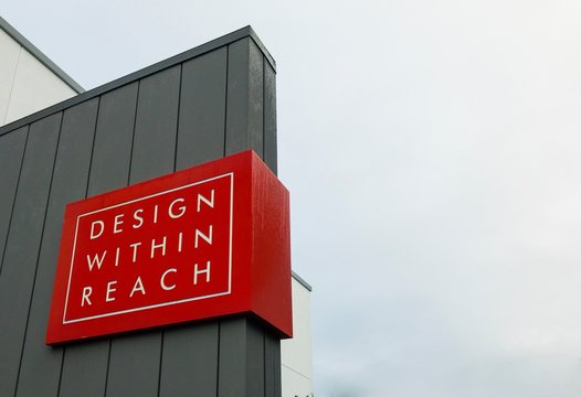 Design Within Reach Modern Furniture Store Sign / Logo on Building Exterior