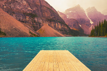 Dock On Beautiful Mountain Vacation Lake