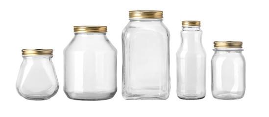 Empty jar isolated on white background Fototapete