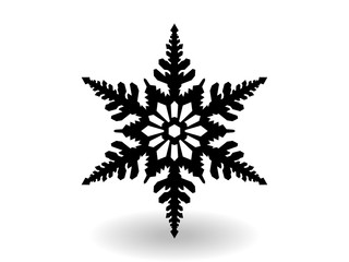 snowflake winter of black isolated silhouette on white background. christmas snowflakes collection free vector.