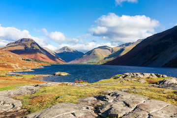 Wast Water, one of the famous lakes in Cumbria's Lake District, Engalnd, UK.