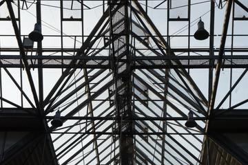 Moderne Stahl-Glas-Dachkonstruktion