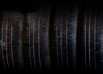 Old car tire tread pattern technology