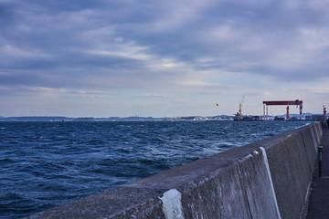 神奈川県 三浦半島から見た東京湾