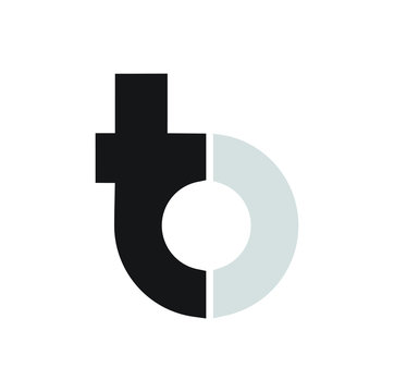 Initial / Letter T and B for logo design inspiration - Vector