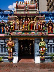 Wall Murals Nepal Facade of Sri Krishnan Hindu temple in Singapore