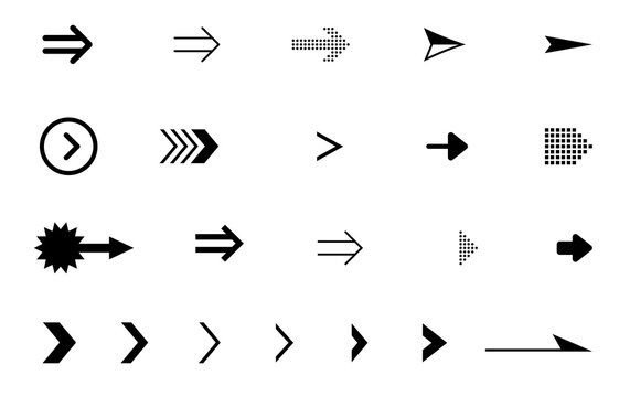 矢印アイコンセット