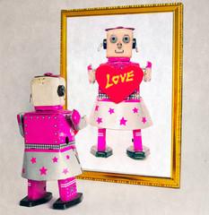 Keuken foto achterwand Hoogte schaal robot love