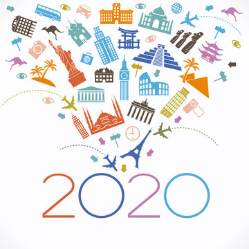 2020 travel and tourism background