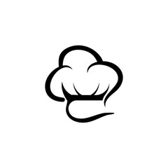 Hat chef logo creative template vector illustration