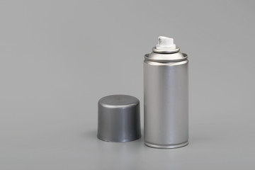aerosol spray can with copy space