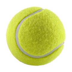 tennis ball isolated without shadow - photography