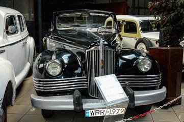 Otrebusy, Poland - October 17, 2004: ZIS-110 classic limousine in Automobile Museum in Otrebusy village near Warsaw