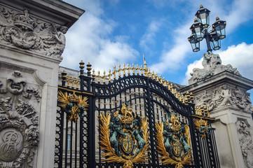 London, UK - September 24, 2006: Gate of Buckingham Palace in London city