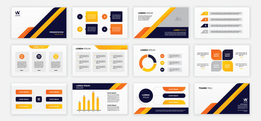 modern power point presentation template set