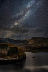 Recess Fitting Gray traffic Stunning majestic digital composite landscape of Milky Way over Hawes Water in Lake District