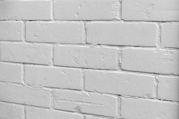 Texture background: white brick wall without shade.