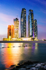 Etihad Towers in Abu Dhabi, United Arab Emirates