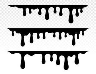 In de dag Graffiti Paint dripping. Dripping liquid. Paint flows. Current paint, stains. Current drops. Current inks. Vector illustration. Color easy to edit. Transparent background.