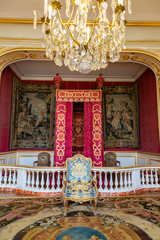 Louis XIV bedroom Chambord castle in France