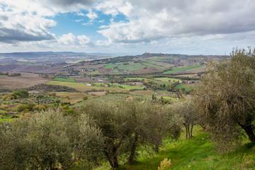 Tuscany Countryside Landscape in Monticchiello  Italy