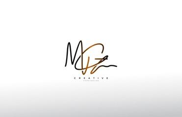 Fototapeta Signature Logotype Letter MG Monogram obraz