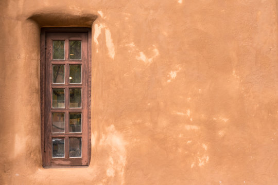 Old Southwestern Adobe Wall and Window