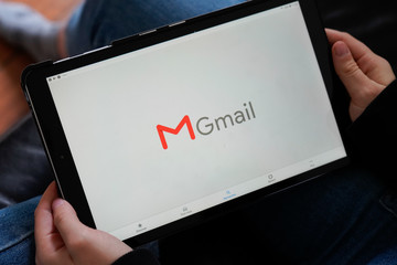 Gmail tablet screen application free e-mail service by Google website