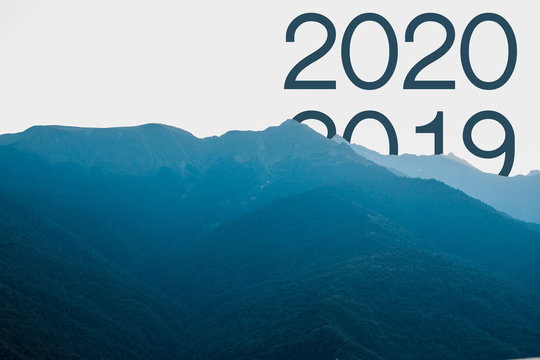 Concept welcome merry christmas and happy new year 2020