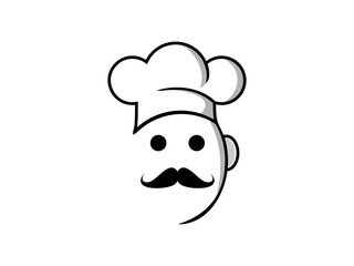 Logo people pic with chef hat vector