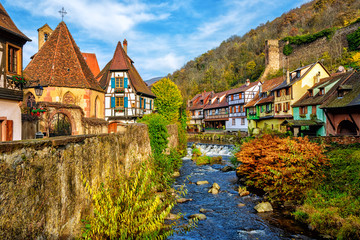 Kaysersberg in Alsace, one of the most beautiful villages of France Fotomurales