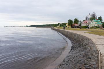 Petrozavodsk. The Onega lake embankment