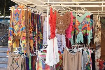 Hippy market, Ibiza.  Fotobehang